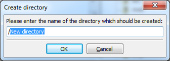 Creating new directory