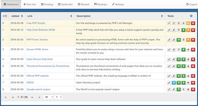 Link manager - Link Exchange Software for free!
